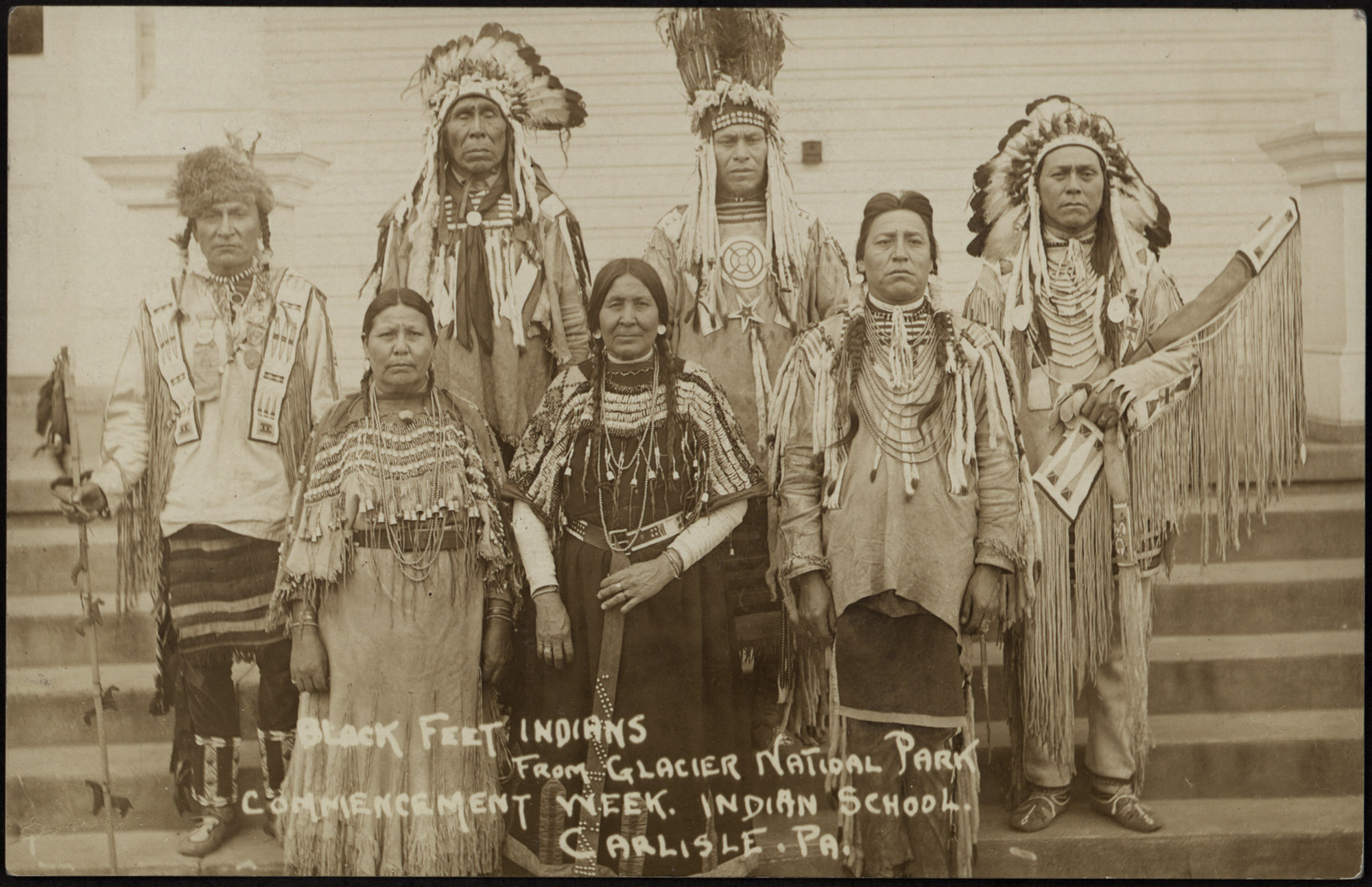 Blackfeet Indians at Commencement Week, 1910