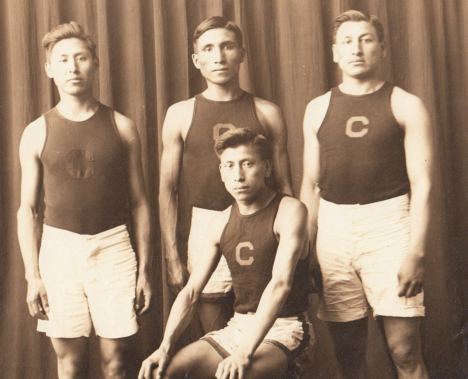 Edgar Moore and Unidentified Athletic Team, c.1908