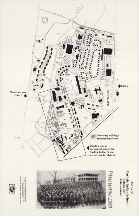 Map of the Carlisle Indian School