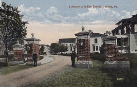 Students Guarding the Front Gate, c.1905