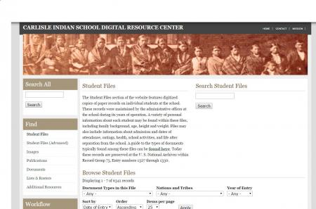 Exploring the Carlisle Indian School Digital Resource Center (CISDRC)  by Name, Nation, Time, and Place