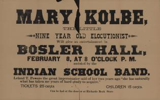 Poster for Mary Kolbe the Elocutionist