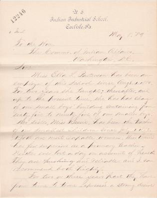 Request of Ella and Bessie Patterson to Transfer to Albuquerque