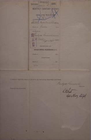 Monthly Sanitary Report of Sick and Wounded, June 1890