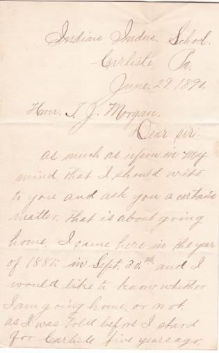 Request of Thomas A. Metoxen to Return Home