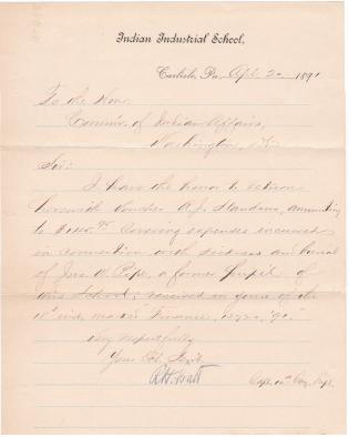 Return of Expense Voucher Related to John W. Pipe