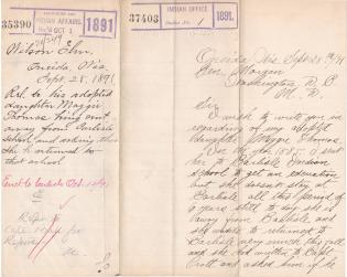Request to Return Maggie Thomas to Carlisle from Outing