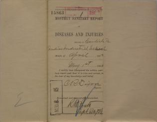 Monthly Sanitary Report of Diseases and Injuries, April 1893