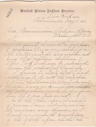 Petition of Cattaraugus Reservation Requesting Return of Children