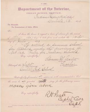 Florence M. Carter's Request for Leave of Absence