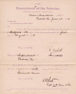 E. Corbett's Request for Annual Leave of Absence