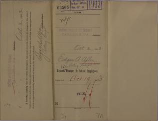 Descriptive Statements of Changes in School Employees and Resignation, October 1903