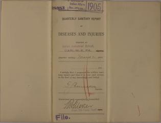 Quarterly Sanitary Report of Diseases and Injuries, March 1905