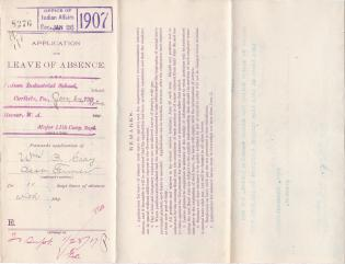 William B. Gray's Application for Annual Leave of Absence