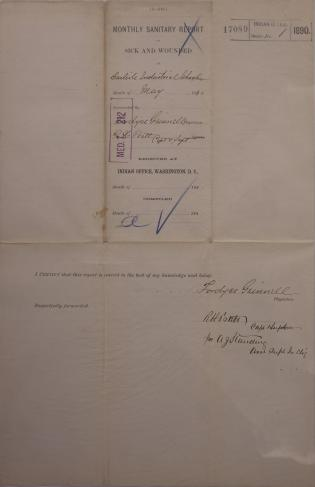 Monthly Sanitary Report of Sick and Wounded, May 1890