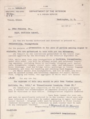 Indictment of Stephen E. Kelly for Sale of Liquor to Indians