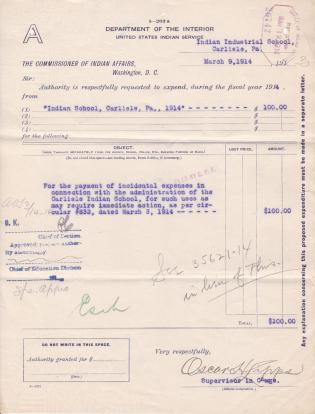 Exhaustion of Fiscal Year 1914 Funds