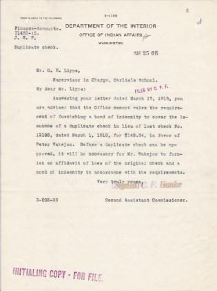 Inquiry into Account of Peter Wakejoo