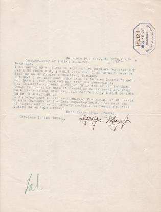 Inquiry into Land Allotment by George Mayo