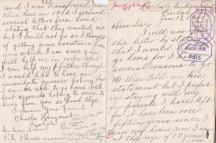Requests for Return Home of Harry Shawbooes and Charles Honyoust