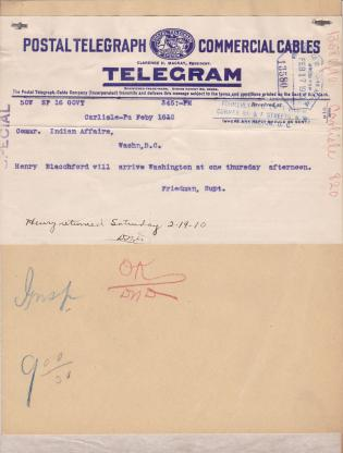 Travel Request of Henry Blatchford to Washington D.C.