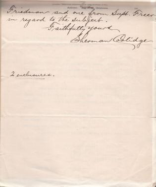 Request for Enrollment of Virginia Coolidge