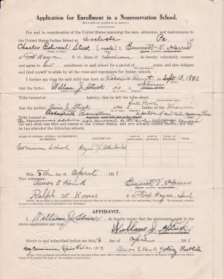 Request for Enrollment of Charles Edward Stuck