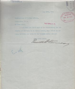 Request for Information from Russell B. Henderson