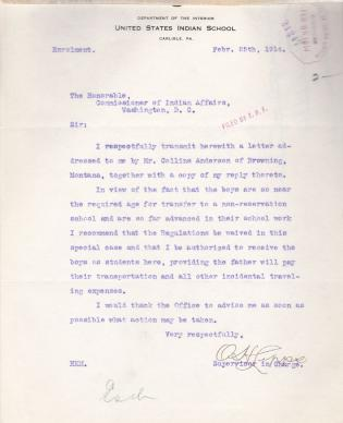 Request for Enrollment for Wilbur and Rupert Anderson