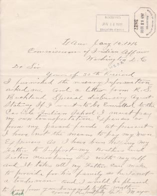 Request for Enrollment of George H. Mayo