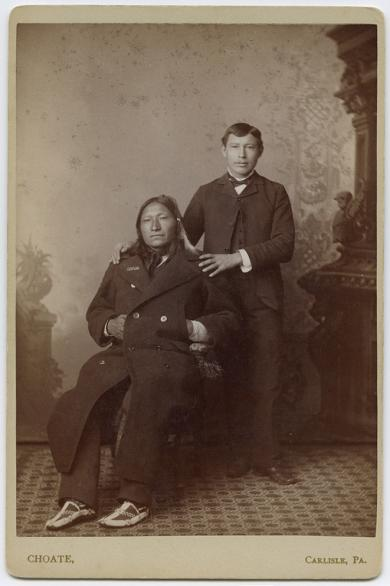 William Fletcher and his uncle, Old Crow [version 3], 1884