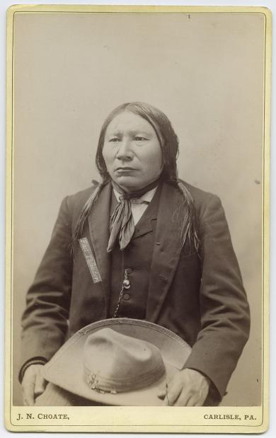Fast Thunder, visiting chief, c.1891