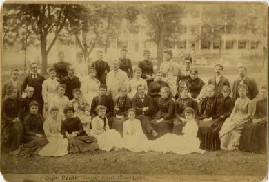 Richard Henry Pratt and teachers [pose 1] [version 2], c.1887