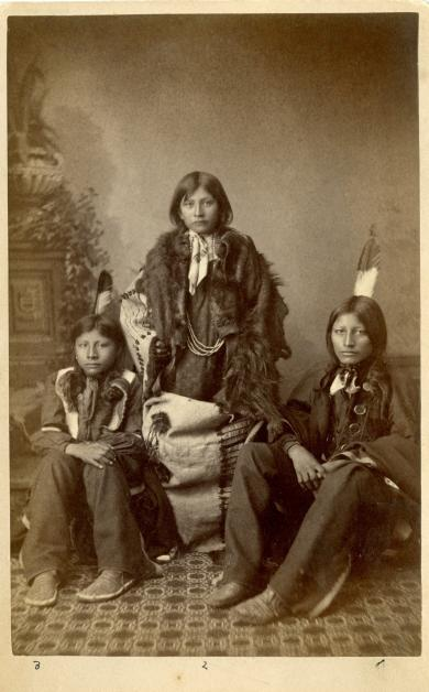 Wounded Yellow Robe, Chauncey Yellow Robe, and Henry Standing Bear [version 3], 1883