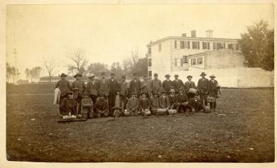 Twenty-four male students upon arrival, 1883