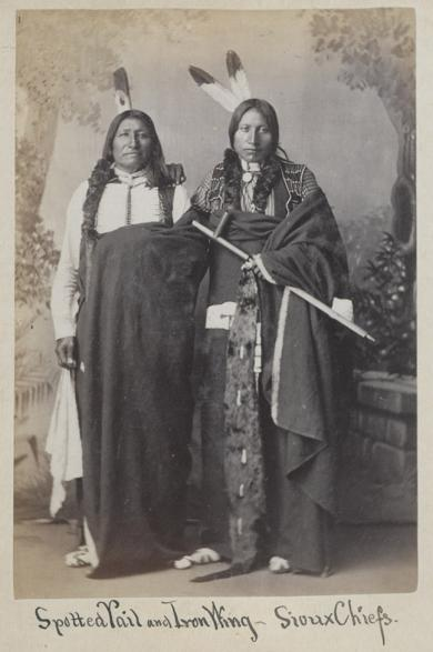 Spotted Tail and Iron Wing, c.1880