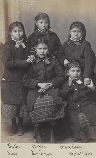 Five Sioux girls [version 2], c.1880