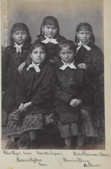 Five female students [version 2], 1880