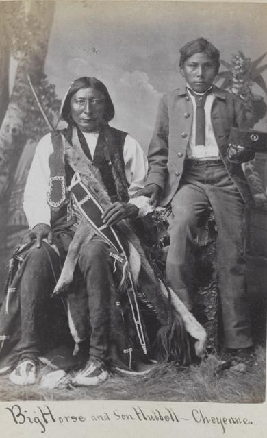 Chief Big Horse and Hubbell Big Horse [version 1], c.1880