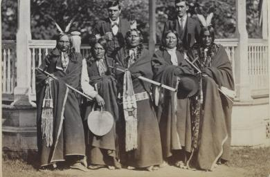 Five Sioux chiefs with two interpreters, c.1880