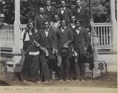 Six Sioux chiefs with five other men [version 2], 1880