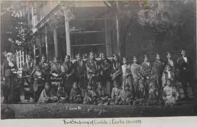 First group of female students [version 1], 1879