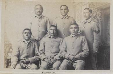 Six unidentified male students #4 (version 2), c.1885