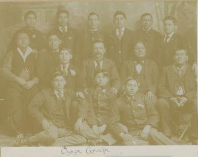 Group of Osage students and chiefs, c.1894