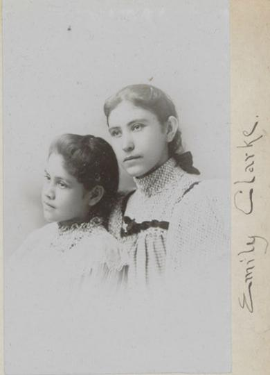 Amelia Clark and an unidentified girl, c.1894