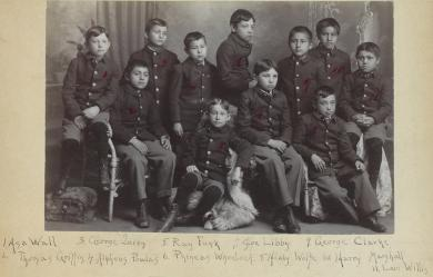 Eleven young male students, c.1896