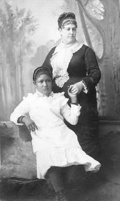 Mary Hyde and Grace Cook, 1881