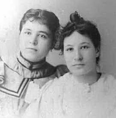 Julia Cobell and Susie Farwell, c.1892