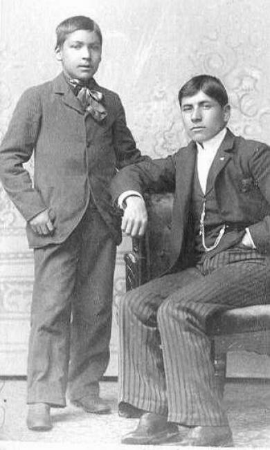 David Abraham and an unidentfied boy, c.1900