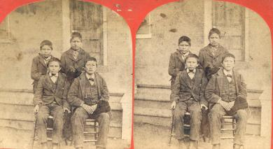 Four male Sioux students [version 2], c.1879